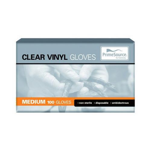 GLOVE VINYL MEDIUM CLEAR POWDERED (PK100)