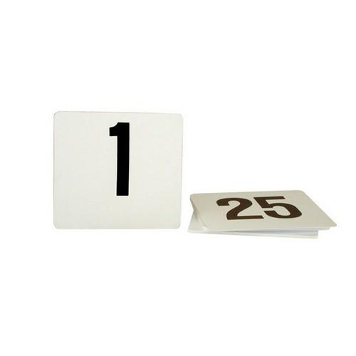 TABLE NUMBER SET 1-25 BLACK ON WHITE 105X95MM