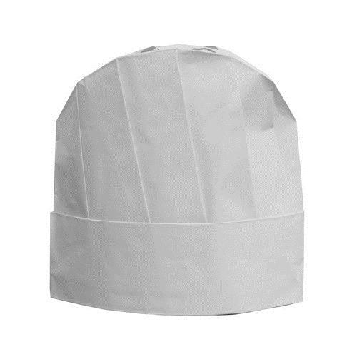 CHEF HAT PAPER DISPOSABLE WHITE 230MM CASTAWAY  (PK10)
