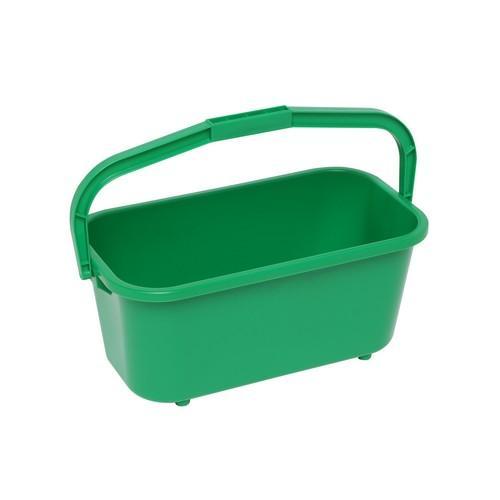BUCKET RECT ALL PURPOSE 11L GREEN PLASTIC EDCO
