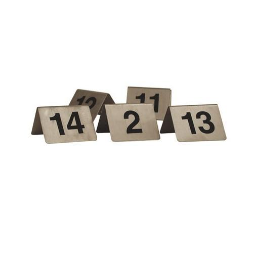TABLE NUMBER SET 21-30 S/S A-FRAME 50X50MM