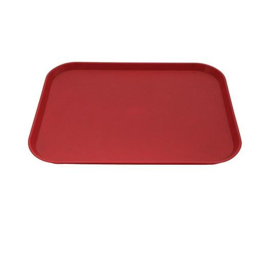 TRAY PLASTIC RECT 400X300MM RED