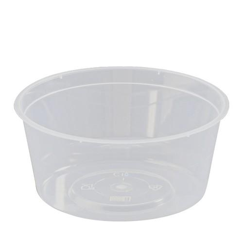 CONTAINER ROUND PLASTIC TAKEAWAY 280ML (PK100)