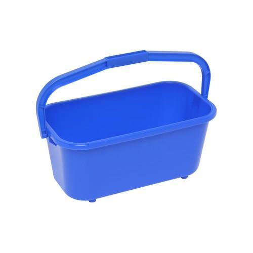 BUCKET RECT ALL PURPOSE 11L BLUE PLASTIC EDCO