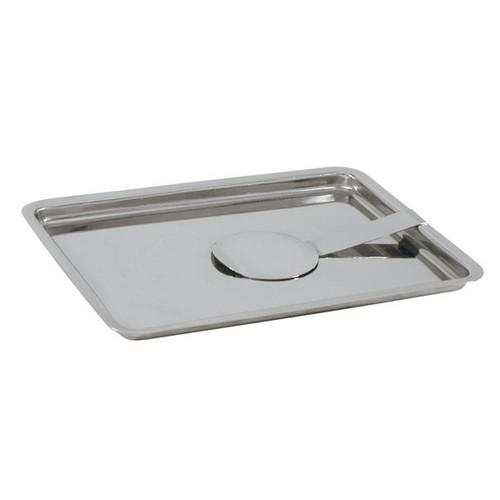 TRAY CHANGE S/S RECT 180X135MM W/CLIP