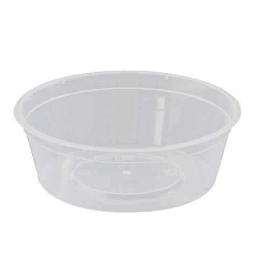 CONTAINER ROUND PLASTIC TAKEAWAY 225ML (PK100)