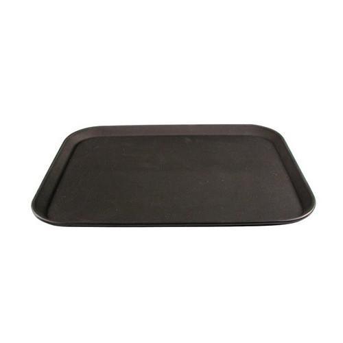 TRAY NON SLIP PLASTIC RECT 380X500MM BLACK