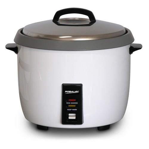 RICE COOKER 5.4L 30 CUP N/S BOWL WHITE 1680W 10AMP ROBALEC