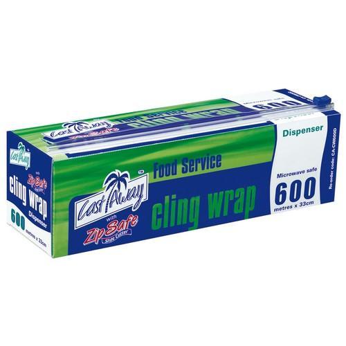 CLINGWRAP ROLL 33CMX600M DISPENSER PACK