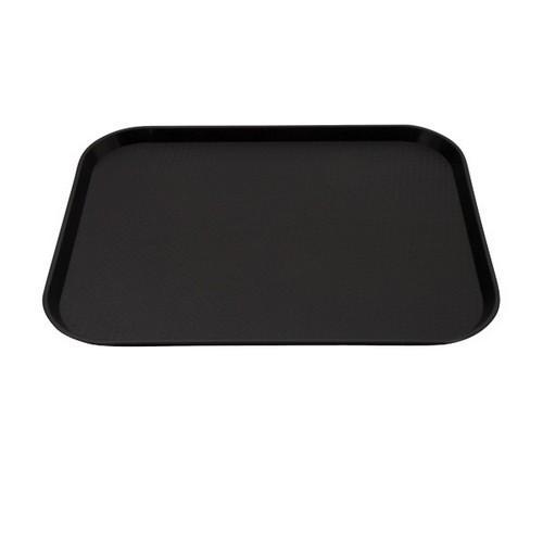 TRAY PLASTIC RECT 400X300MM BLACK