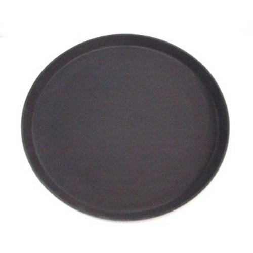 TRAY NON SLIP F/GLASS ROUND 400MM BLACK CAMTREAD