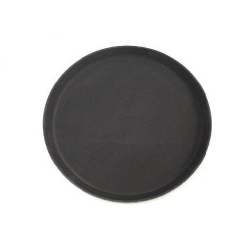 TRAY NON SLIP F/GLASS ROUND 350MM BLACK CAMTREAD