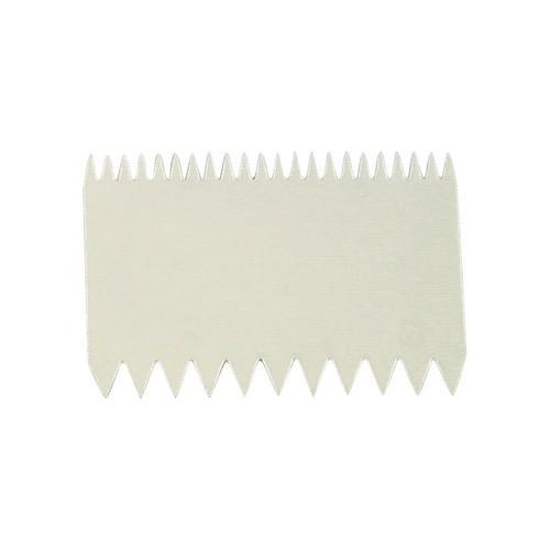 DOUGH SCRAPER / COMB PLASTIC 110X75MM THERMO