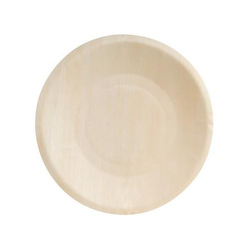 PLATE ROUND FSC WOOD 190MM (PK10)