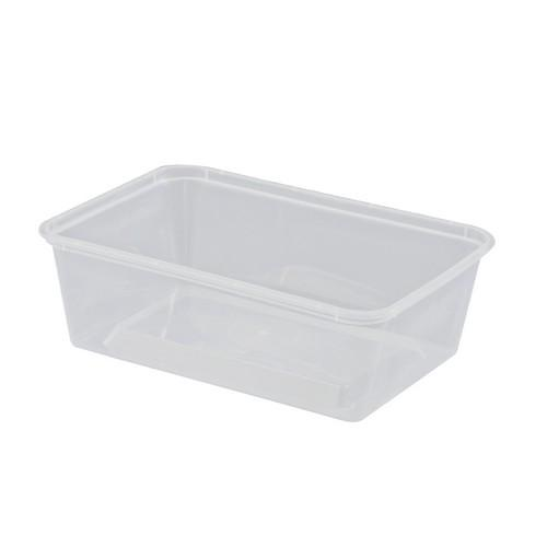 CONTAINER RECT PLASTIC TAKEAWAY 700ML (PK50)