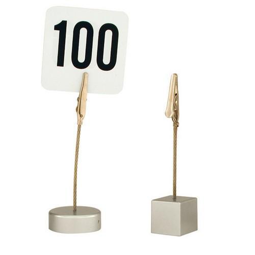 CARD HOLDER ALLIGATOR CLIP ROUND BASE 100MM