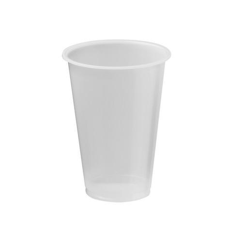 CUP PLASTIC NATURAL 285ML CERTIFIED (PK50)