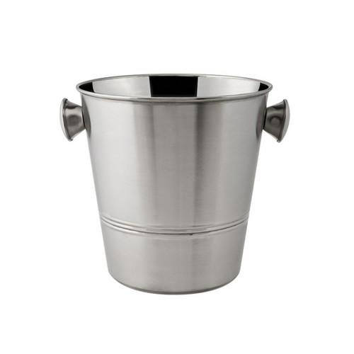 WINE BUCKET S/S W/KNOBS SATIN 205X200MM