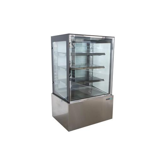 COLD CAKE DISPLAY SHOWCASE SQUARE GLASS 4TIER 1200MM ANVIL AIRE