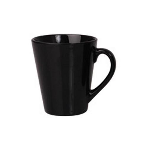 MUG COFFEE TAPERED BLACK 280ML