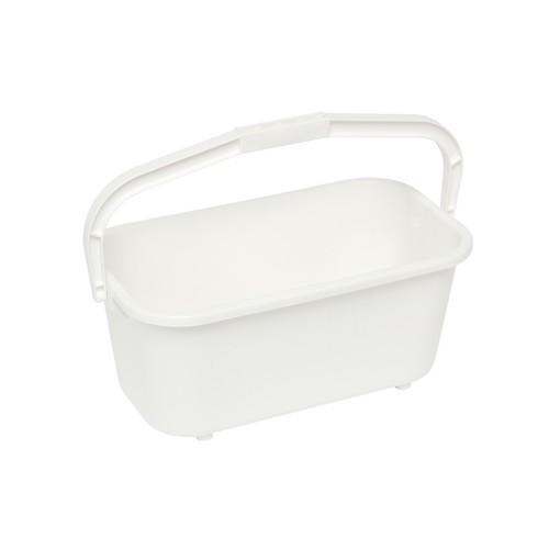 BUCKET RECT ALL PURPOSE 11L WHITE PLASTIC EDCO