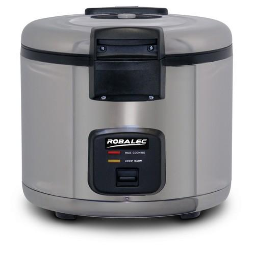 RICE COOKER & WARMER S/S 6L 35 CUP N/S BOWL 1680W 10AMP ROBALEC
