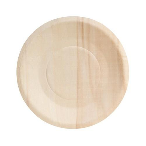 PLATE ROUND FSC WOOD 150MM (PK10)