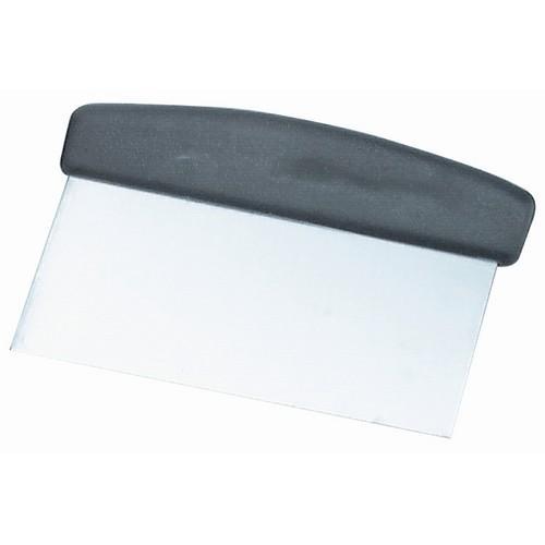 DOUGH SCRAPER 150X75MM S/S PLASTIC HANDLE
