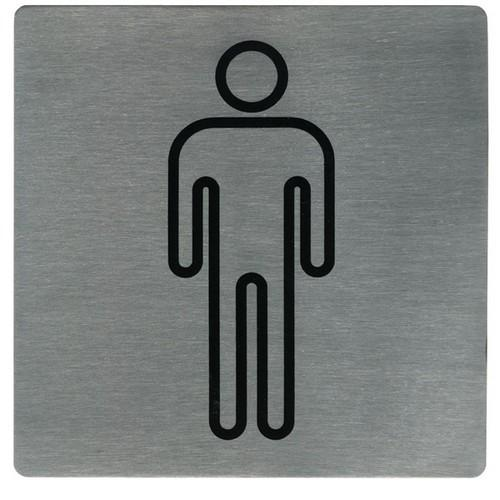 SIGN - MALE SYMBOL S/S 130X130MM