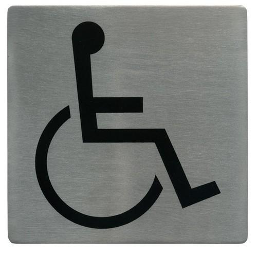 SIGN - DISABLED SYMBOL S/S 130X130MM