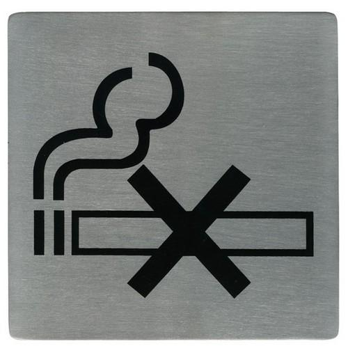 SIGN - NO SMOKING SYMBOL S/S 130X130MM