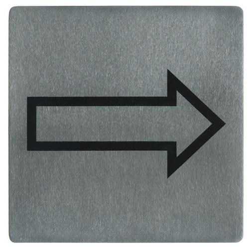 SIGN - ARROW SYMBOL S/S 130X130MM