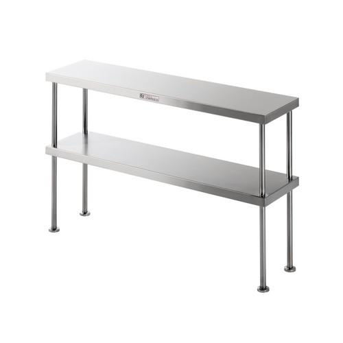 BENCH OVERSHELF S/S DOUBLE 1200X300X750MM SIMPLY STAINLESS