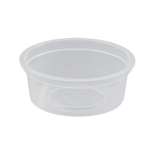 CONTAINER ROUND PLASTIC SAUCE / TAKEAWAY 70ML (PK100)