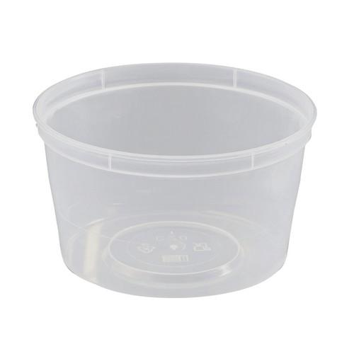 CONTAINER ROUND PLASTIC TAKEAWAY 440ML (PK50)
