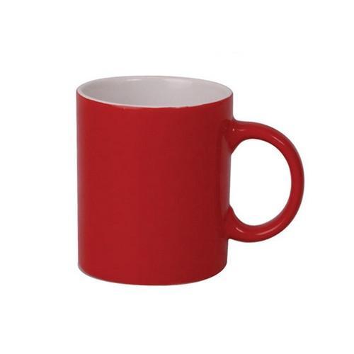 MUG COFFEE CAN SHAPE RED / WHITE 340ML