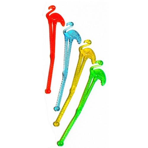 SWIZZLE STICK FLAMINGO NEON 150MM ALPEN (PK100)