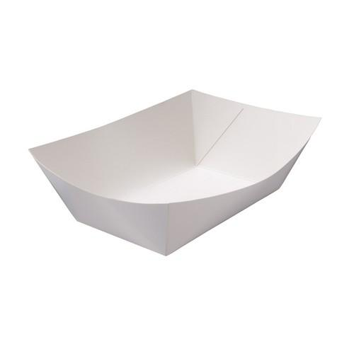 FOOD TRAY BOARD WHITE LINED REDISERVE #5 280X195X80MM (CT200)