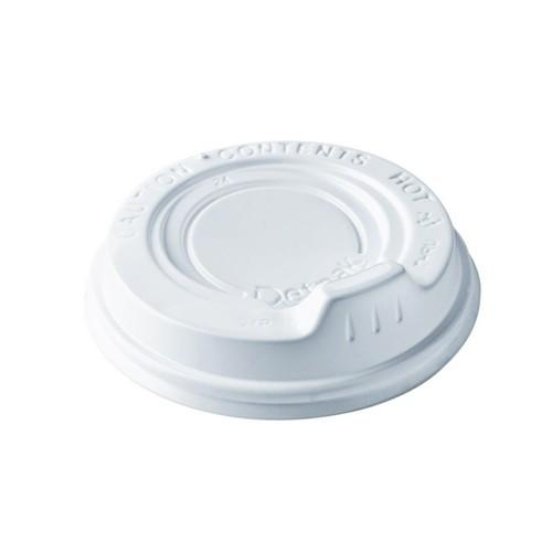 LID PLASTIC SIPPER  WHITE FOR RIPPLEWRAP CUP 240ML (CT1000)