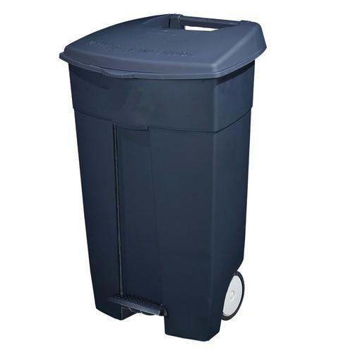 WHEELIE BIN PLASTIC 120L W/PEDAL GREY WEATHERDON