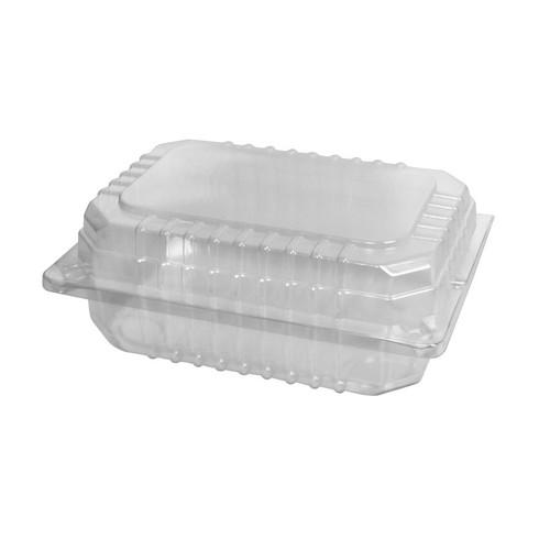 SALAD PACK PLASTIC CLEAR HINGED SMALL 152X106X60MM