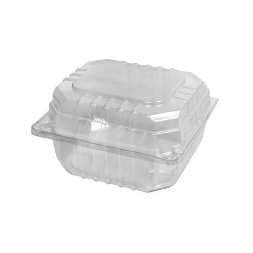 BURGER PACK PLASTIC CLEAR HINGED SMALL 104X91X65MM (CT1000)