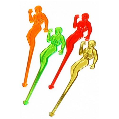SWIZZLE STICK HERCULES NEON ASSORTED 150MM ALPEN (PK100)