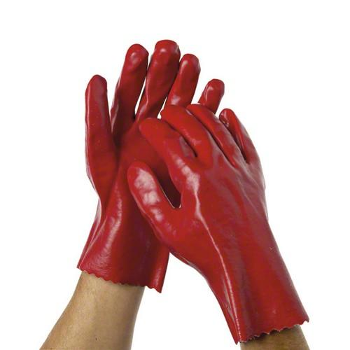 GLOVE PVC DIPPED RED LIQUID RESISTANT 270MM OATES