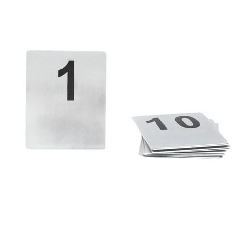 TABLE NUMBER SET 1-10 S/S FLAT 100X80MM