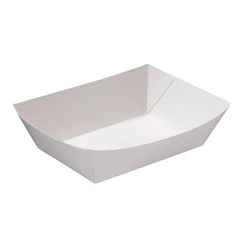 FOOD TRAY BOARD WHITE LINED REDISERVE #4 233X155X55MM (CT400)