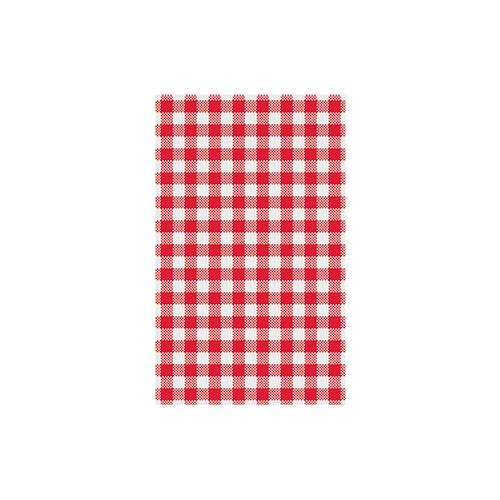 GREASEPROOF SHEET RED GINGHAM 190X310MM (PK200)