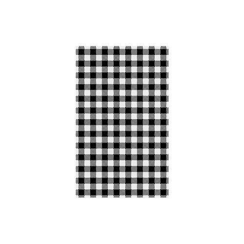 GREASEPROOF SHEET BLACK GINGHAM 190X310MM (PK200)