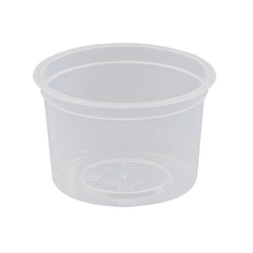 CONTAINER ROUND PLASTIC SAUCE / TAKEAWAY 120ML (PK50)