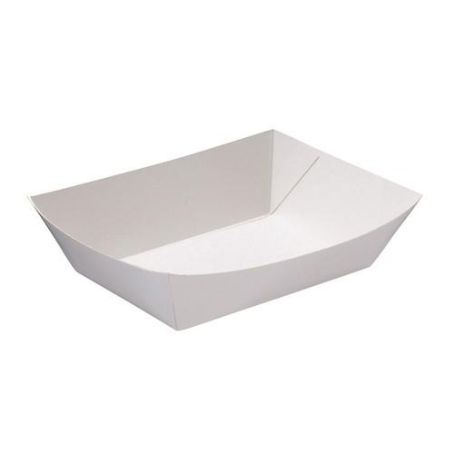 FOOD TRAY BOARD WHITE LINED REDISERVE #2 153X120X40MM (CT900)